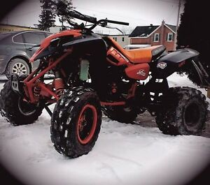 Polaris predator 500 and Suzuki ozark 250