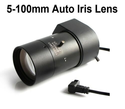 CCTV Varifocal Zoom Lens 5-100 mm Auto Iris