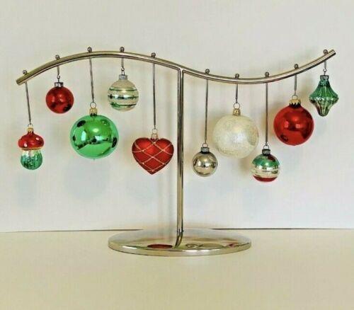 CRATE & BARRELSilver Tone Christmas Ornament Holder Centerpiece  RARE FIND