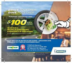 PURCHASE 4 MICHELIN TYRES AND GET UP TO $100 GIFT CARD Wanneroo Wanneroo Area Preview