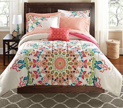- Queen Size Bedding Set Bohemian Medallion Comforter Women Teen Moroccan Boho Bag