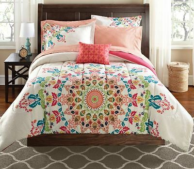 Twin XL Bedding Set Bohemian Medallion Comforter Teen Moroccan Boho Bag Dorm New ()