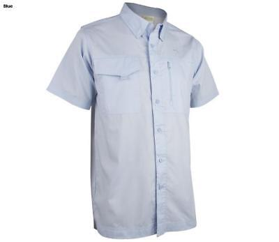 9253f537e4538 Rustic Ridge Mens Delta Short Sleeve Fishing Shirt Vented LRG zipper pocket  4-79