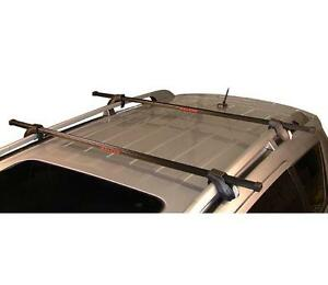 "Crossbars 50"" with locks for roof rails (like new)"