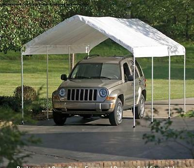 """Replacement Canopy Valance Top Fits 12 X 30  2"""" O.D. Shelterlogic Frames-White"""