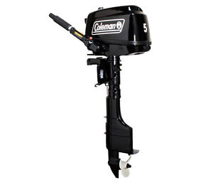 2014 5hp Coleman 4 stroke outboard