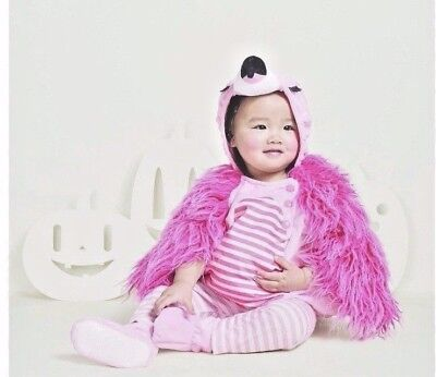 Baby Infant Plush Flamingo Costume Halloween Dress Up Outfit Pink 0-6 Months New](Pink Flamingo Baby Halloween Costume)