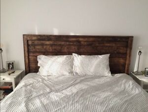 Reclaimed wood headboard $220 or best offer