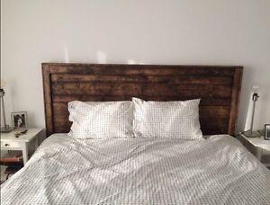 Reclaimed wood headboard $275 or best offer