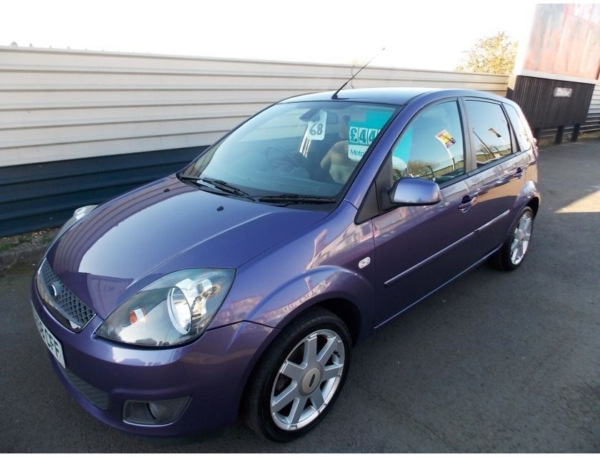 2008 58 ford fiesta 1 4 tdci zetec climate finished in metallic purple trade right cars cardiff. Black Bedroom Furniture Sets. Home Design Ideas