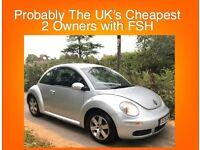 VW Beetle 1.6 Luna + FSH + Warranty & Only 2 Owners