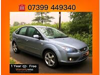 Low Mileage!!! Ford Focus 1.8 Zetec Climate 5dr with One Year Free Warranty