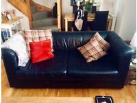 Habitat Two Seater Leather Sofa