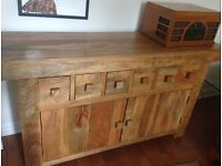 Stunning Solid Oak Storage Cabinet Dresser Sideboard
