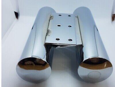 4x CHROME SILVER METAL TUBE LEGS FURNITURE FEET SOFA BED CHAIR STOOLS...