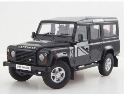 1:18 Land Rover Defender 110 Dorlop LWB Rare Black RHD Detailed Diecast Model for sale  Shipping to Ireland