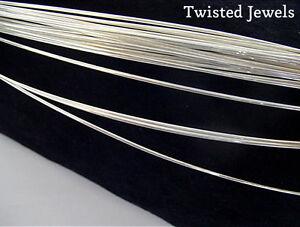 1ft 18 GA .925 Sterling Silver HALF-ROUND Dead Soft Jewelry Wire Wrap Gauge G