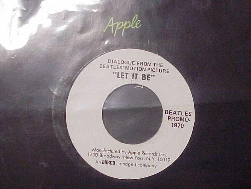 The Beatles - Dialogue From The Motion Picture Let It Be - 45 RPM PROMO - MINT-