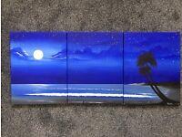 Beach Night Sky Canvas Painting