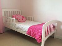 John Lewis white wooden toddler bed