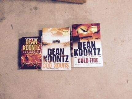 Dean Koontz X 2 large and 1 small book Narangba Caboolture Area Preview