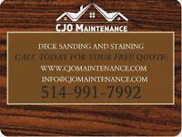 Deck & Fence Refinishing (sanding&staining)