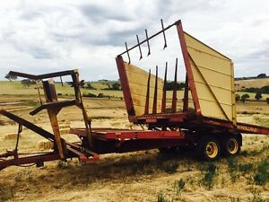 New Holland 1034 Bale Wagon Rokewood Golden Plains Preview