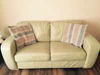 Used Leather Sofa Suite Two 2 Seater and Three 3 Seater (Ideal for landlord or Tenant)