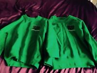 Old Basing School jumpers and polo shirts- size 28