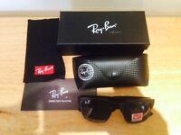brand new rayban black mens sunglassess