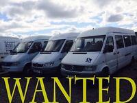 Mercedes sprinter & volkswagen crafter van wanted!!!