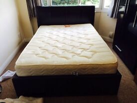 Waverley Faux Leather Bed + Mattress