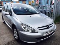 PEUGEOT 307 2.0 DIESEL ESTATE HDI RAPIER MANUAL 2003