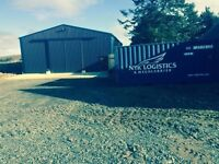 Large shed for storage, storing machinery, cars, household, farm equipment,