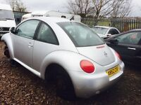 Volkswagen Beetle Petrol 2001 year Parts Available engine - gearbox