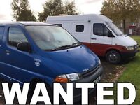 WANTED!!! TOYOTA HIACE & MERCEDES SPRINTER ANY YEAR