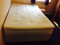 Double Divan bed and Mattress with storage, Collection in Charlton SE7