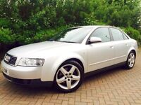 AUDI A4 1.8 T SPORT 4dr SILVER #SERVICE HISTORY #1/2 LEATHER 1/2 SUEDE SPORT SEATS #S LINE ALLOYS