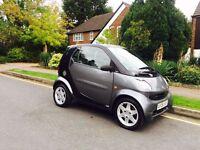 2006 Black & Grey Smart Fortwo, 0.7L, Auto, Petrol, 2 Owners, MOT, 60k Miles, £30 Tax, Automatic