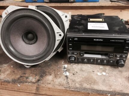 2003 Subaru Forester XS Luxury head unit and front speakers Pearcedale Casey Area Preview