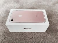 IPHONE 7 ROSE GOLD 32gb ON EE, TMOBILE & VIRGIN BOXED MINT CONDITION & WARRANTY rrp£599 MAY SWAP