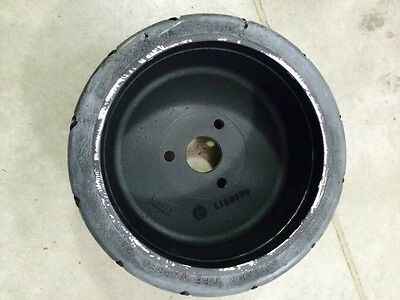 Pair Of 12 X 4 3 Lug Solid Rubber Tires Rims Fits Tennant Sweeper Scrubber