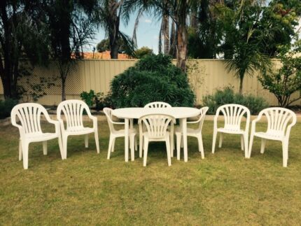 Outdoor Table & Chairs Setting 8 Chairs & 1 Table Beechboro Swan Area Preview