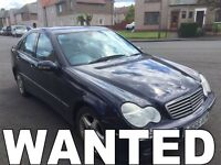 WANTED!!! MERCEDES C220 & C320 DIESEL CARS