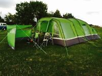 High Gear Voyager 6 tent with porch and accessories - all you need for camping - in VGC