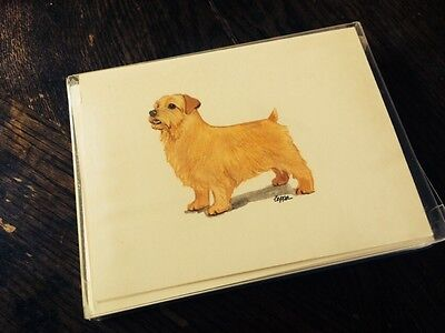 Zeppa Studios 8 Blank Greeting Cards w/ Envelopes & Stickers Norfolk Terrier NEW