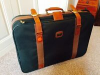 Antler green and brown wheeled suitcase