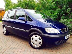 Vauxhall Zafira 1.6 i 16v Design 5dr #FULL SERVICE HISTORY #7 SEATS #1 FORMER KEEPER #12 MONTHS MOT