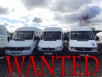 WANTED!!!! MERCEDES SPRINTER ANY MODEL