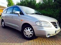 Ssangyong RODIUS 2.7 TD S 5dr ##LOW MILEAGE 89K ##7 SEATS ##MERCEDES ENGINE